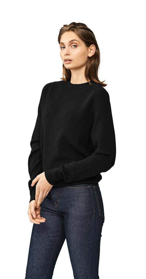 The Crewneck Sweater - Black from Teym