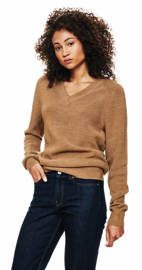 The V-Neck Sweater - Camel from Teym