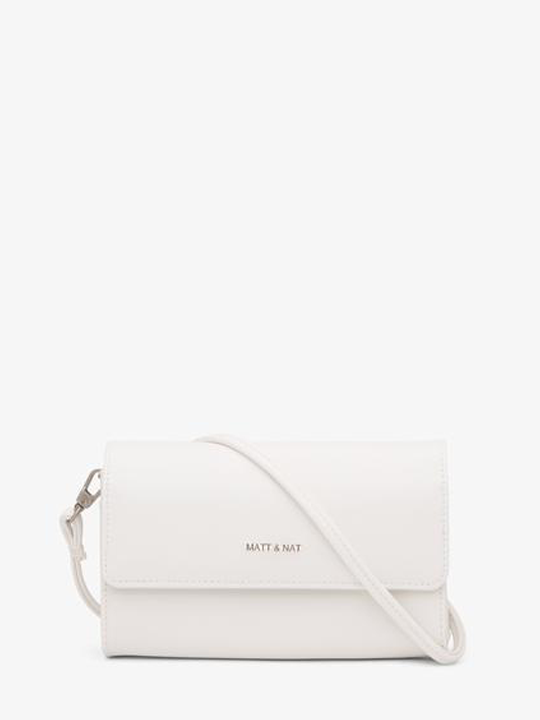 White Drew Crossbody Bag Vegan Leather  from The Collection One