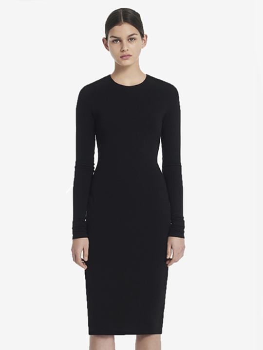 Hedvig Black Bamboo Dress  from The Collection One