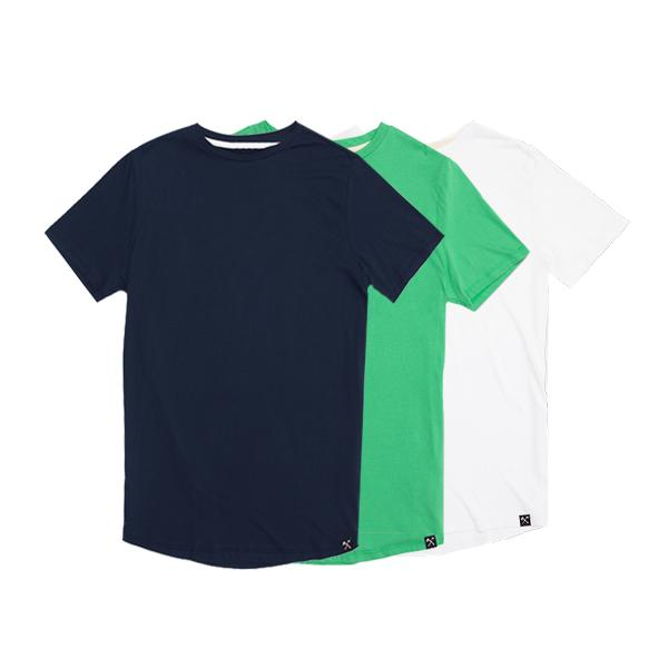 3 x :BLUE + GREEN + WHITE TSHIRT from The Driftwood Tales