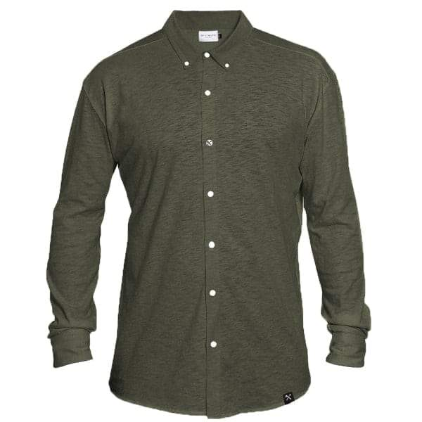 SHIRT - SLUB JERSEY - ARMY GREEN from The Driftwood Tales
