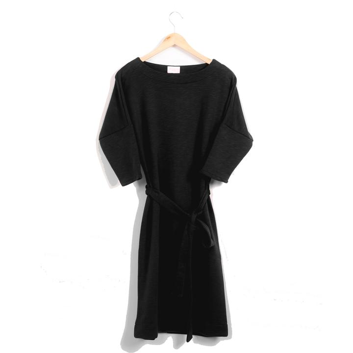 Dress - recycled sweat fabric - black from The Driftwood Tales
