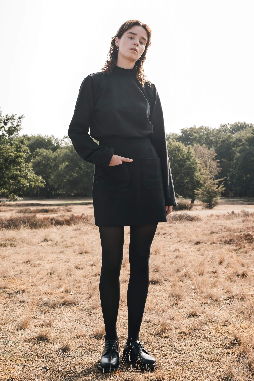 Rib skirt black from thegreenlabels.com