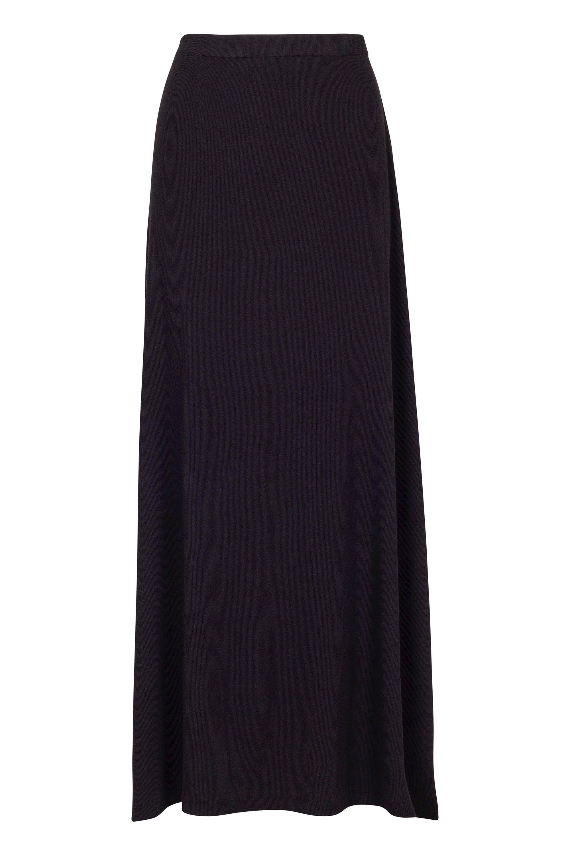 Long rib skirt black from thegreenlabels.com