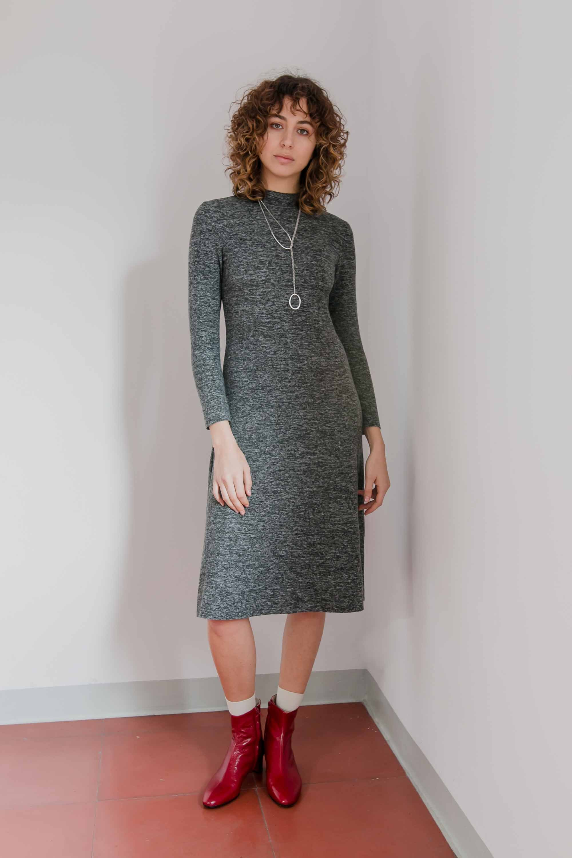 Knit dress grey from thegreenlabels.com