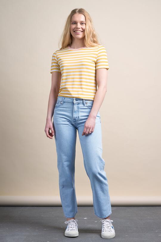Lida t-shirt bold stripes from thegreenlabels.com