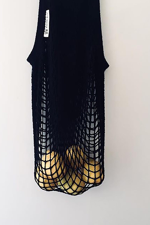 Organic cotton net bag black from thegreenlabels.com
