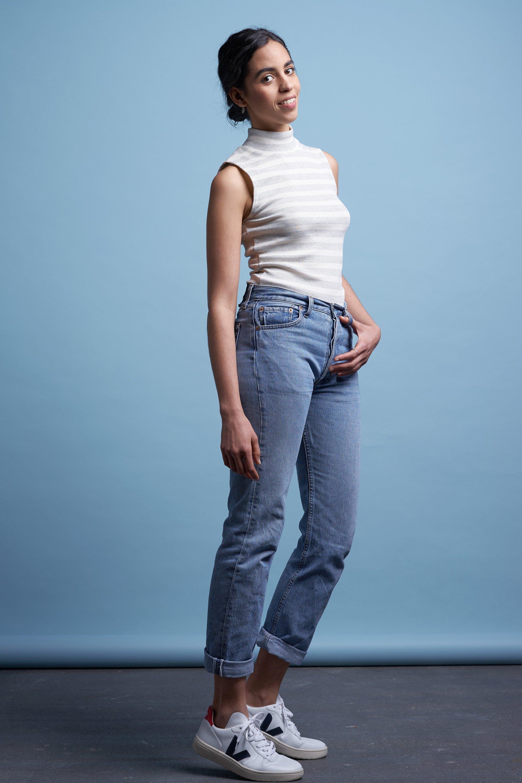 Jacobina top sleeveless stripe rib from thegreenlabels.com