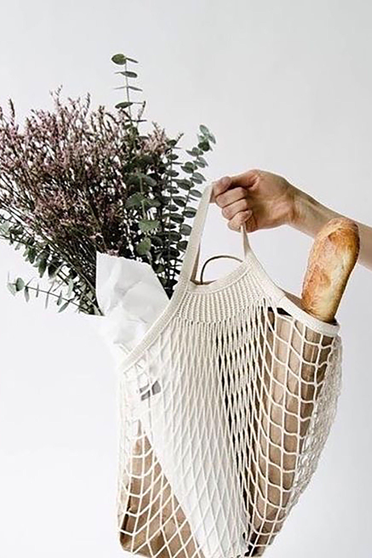 Organic cotton net bag white from thegreenlabels.com