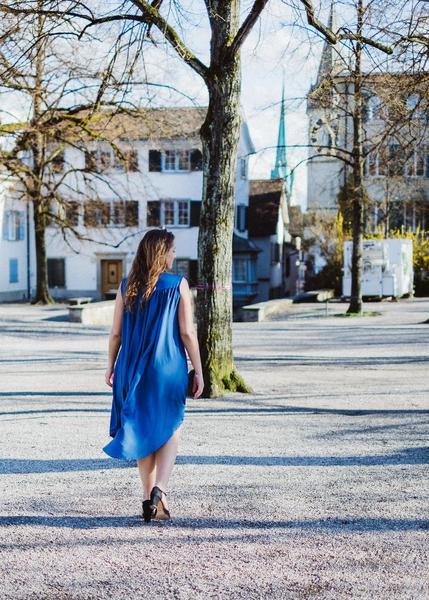 Blue Flow Dress from Troo