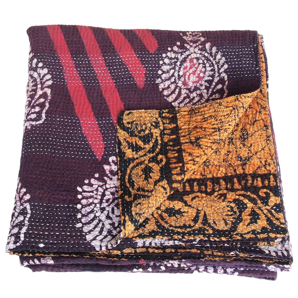 Kantha deken van katoenen sari's groot | phandi from Tulsi Crafts