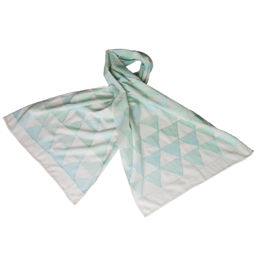Kantha sjaal khadi katoen | smaragd from Tulsi Crafts