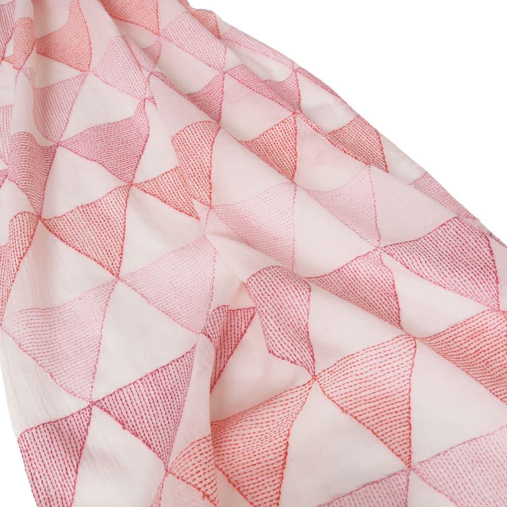 Kantha sjaal katoen | robijn from Tulsi Crafts