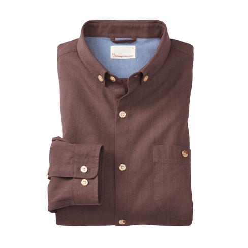 Hemd aus Bio Baumwolle, kastanie XXL from Waschbär