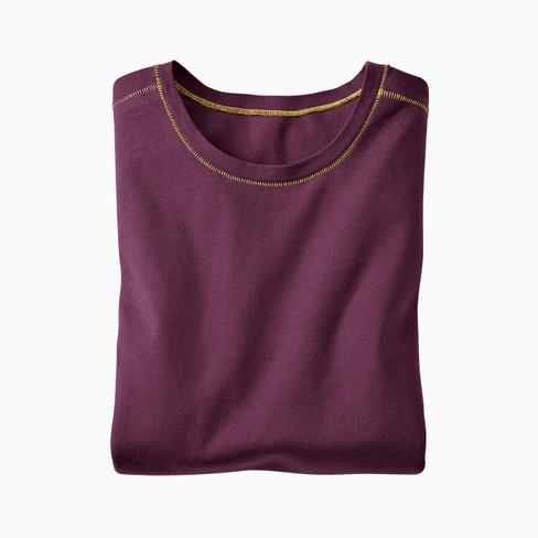 Shirt met lange mouwen, pruim XL from Waschbär