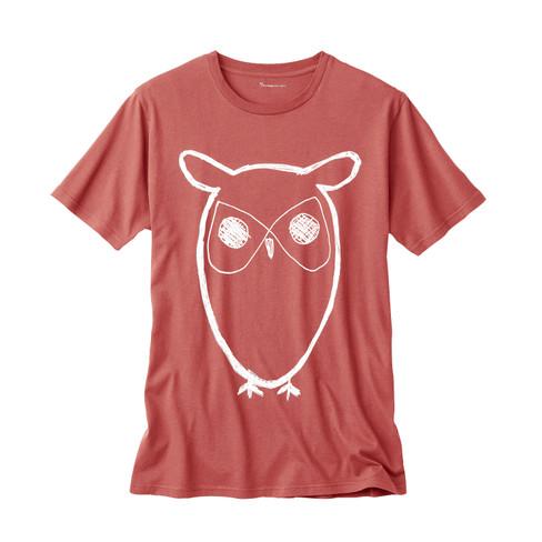 Knowledge Cotton Apparel Shirt met korte mouwen, salie | Waschbär Eco-Shop from Waschbär