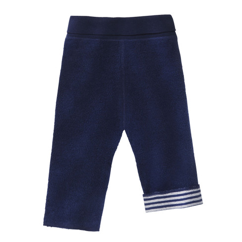 minibär Omkeerbare fleece babybroek, blauw/naturel from Waschbär