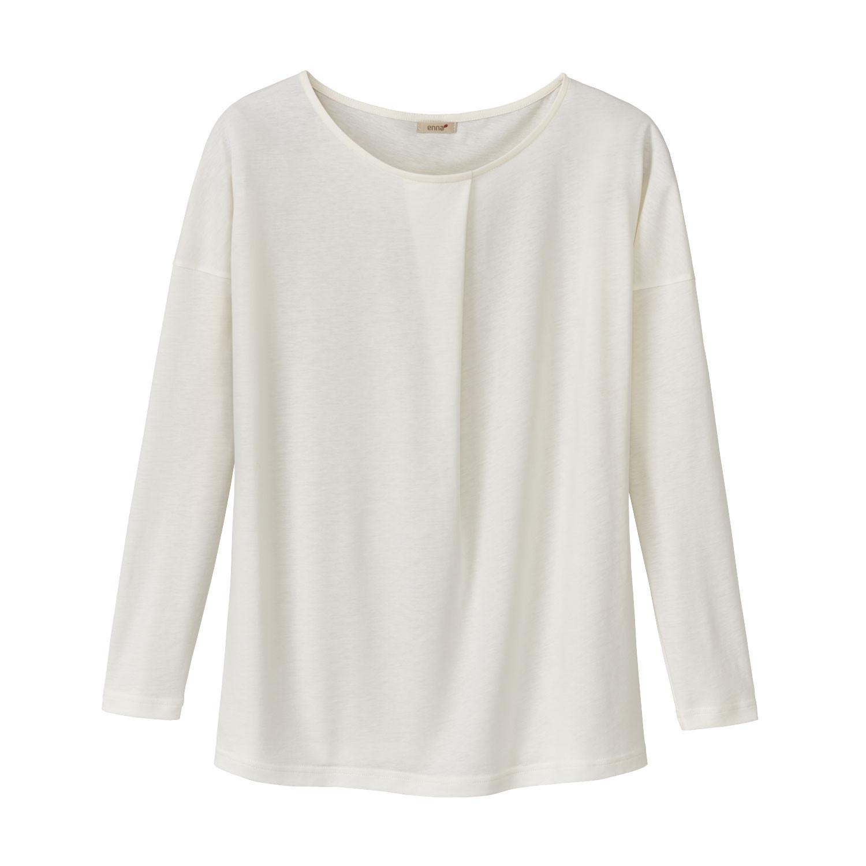 enna Shirt met lange mouw en wijdteplooi van TENCEL™, natuurwit | Waschbär Eco-Shop from Waschbär
