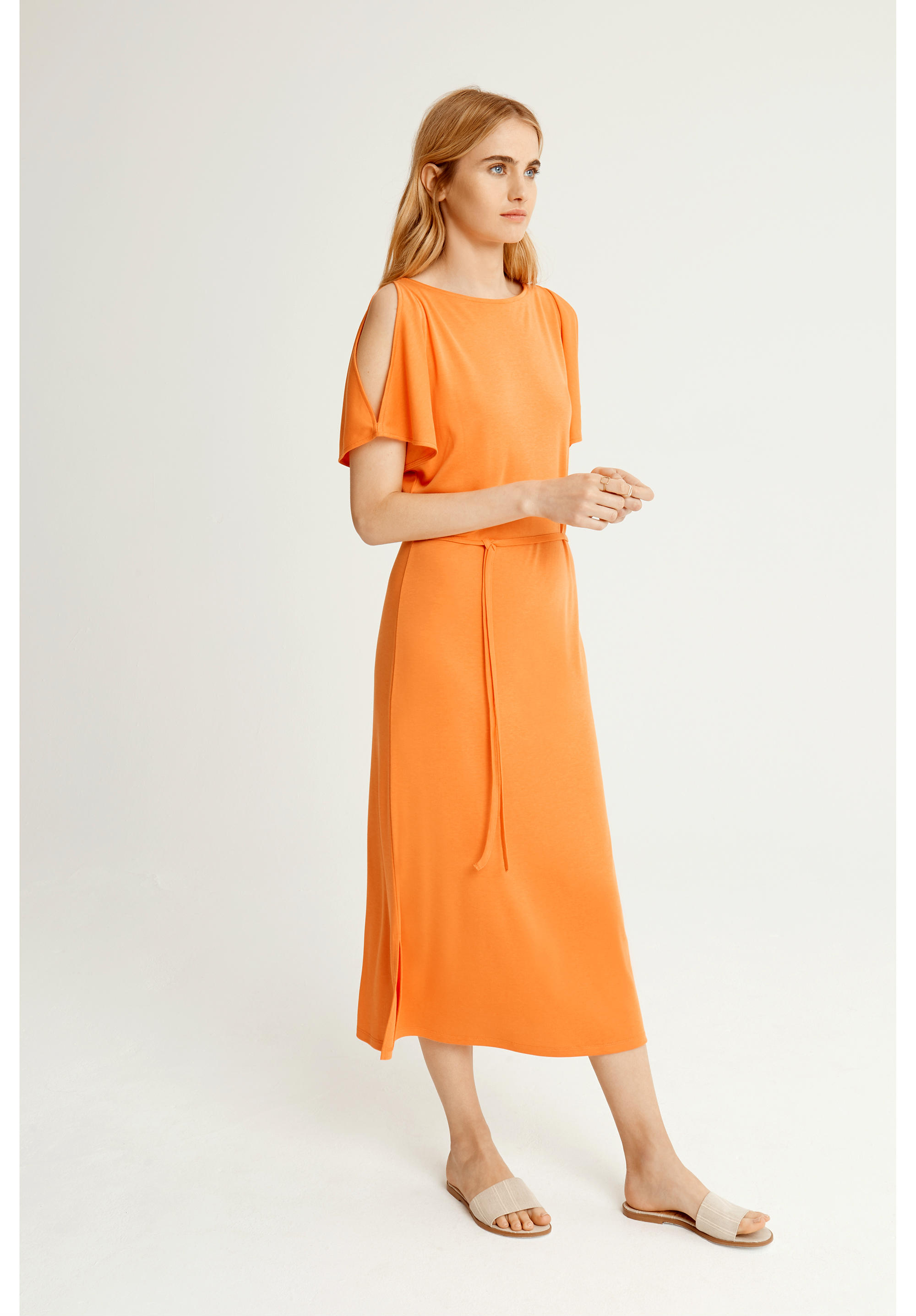 People Tree | Victoria Dress Dusty Orange from Wolf and Storm